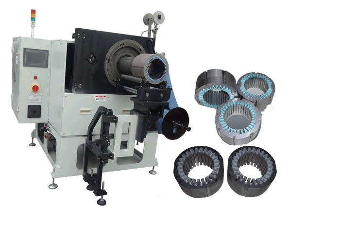 Motor Production Slot Insulation Machine , Motor Winding Equipment